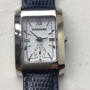 Ladies stainless steel Tourneau watch